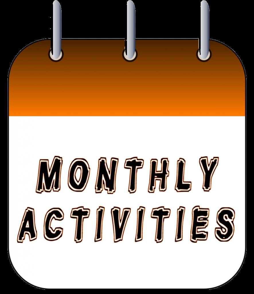 Monthly Activities Calendar