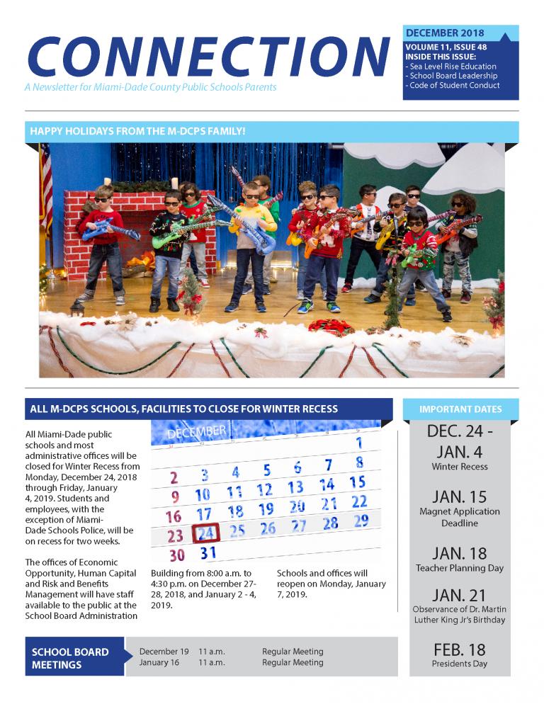 December 2018 Connection Parent Newsletter English